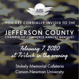 Invitation to the 38th Annual Jefferson County Chamber of Commerce Banquet