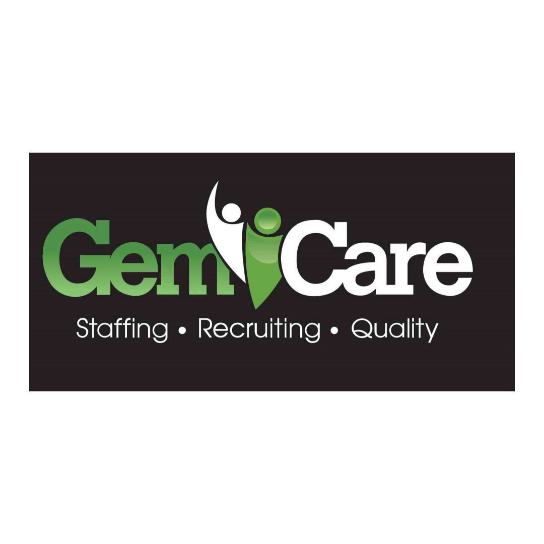 gem care, a staffing agency, logo