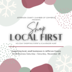 shop local first holiday event event graphic